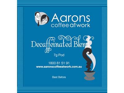 decaffeinated blend pods