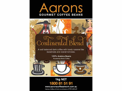 continental blend coffee beans
