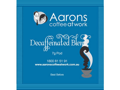 decaffeinated blend pods