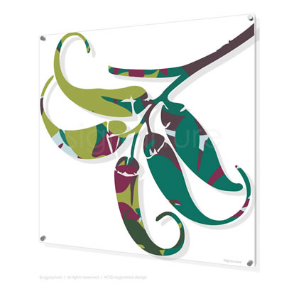 contemporary perspex art signarture lizard island